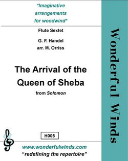 Handel - The Arrival of the Queen of Sheba flute choir