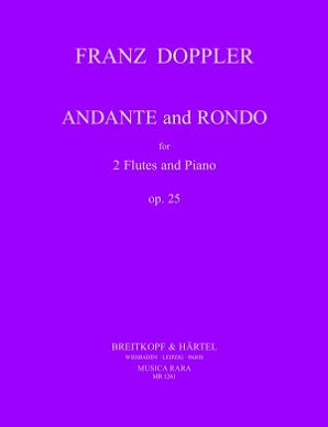 Doppler - Andante and Rondo, Op. 25 for 2 Flutes and Piano (Musica Rara)
