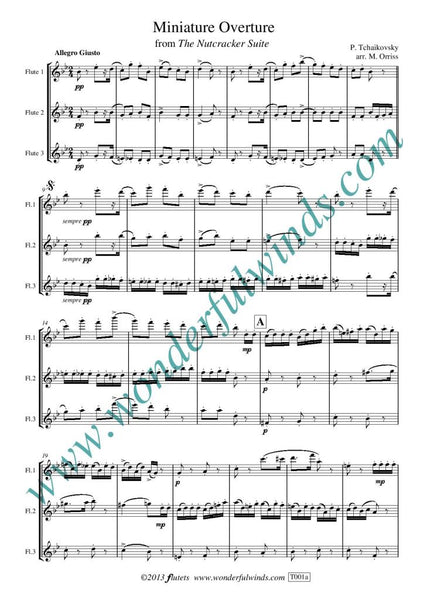 Tchaikovsky: Miniature Overture (Nutcracker) for three flutes