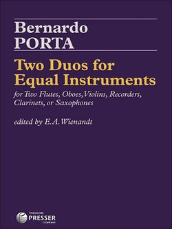 Porta, Bernardo - Two Duos for Equal Instruments