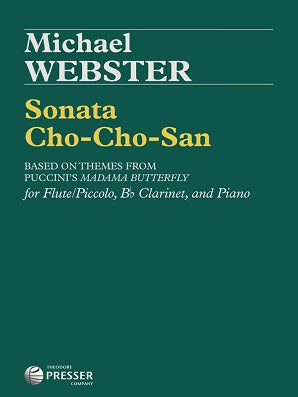 Webster - Sonata Cho-Cho-San flor flute clarinet with piano