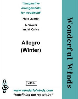 "Vivaldi/Orriss - Allegro, Winter from the ""Four Seasons"""