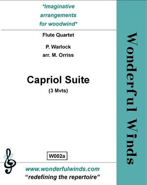 Warlock - Capriol Suite for 4 flutes