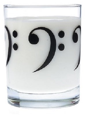 Clear Glass Tumbler Bass Clef