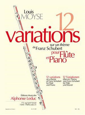 Moyse - Variations 12 on a theme of Schubert F/P (Leduc)