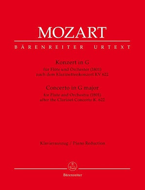 Mozart, WA - Concerto for Flute in G based on the Clarinet Concerto (K.622)