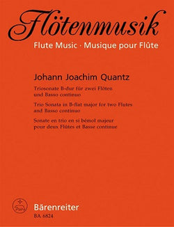 Quantz Johann Joachim	Trio Sonata in B-flat. First edition.