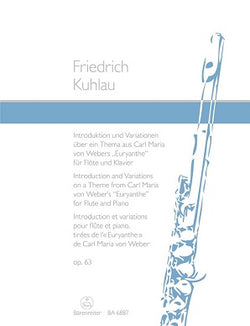 Kuhlau Daniel Frederik	Introduction & Variations Op.63 on a theme from Weber's Euryanthe