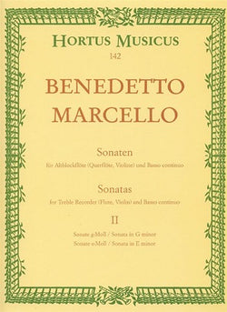 Marcello Benedetto	Sonatas from Op.2, Vol. 2:(No.3 G min; No.4 E min).