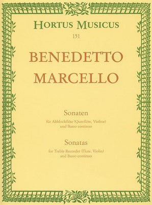 Marcello Benedetto	Sonatas from Op.2, Vol. 1: (No.1 F maj; No.2 D min).