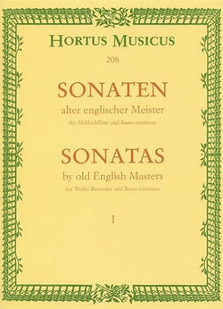 Various Composers 	Sonatas by Old English Masters, Vol.1. (Williams, Sonata D min / Parcham, Sonata G / Topham, Sonata C min)