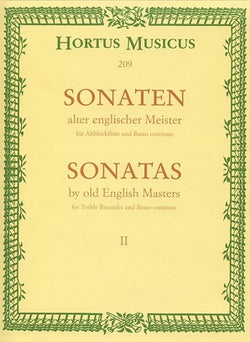 Various Composers 	Sonatas by Old English Masters, Vol.2. (Croft, Sonata D / Purcell, Sonata F / Valentine, Sonata B).