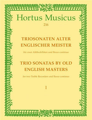 Various Composers 	Trio Sonatas by Old English Masters, Bk.1. (W Williams, Sonata in A min, W Corbet, Sonata in C maj).