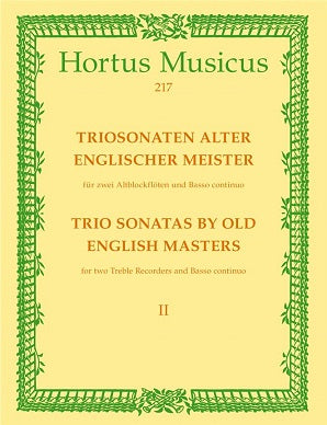 Various Composers 	Trio Sonatas by Old English Masters, Bk.2. (D Purcell, Sonata in F maj, R Valentine, Sonata in C min).