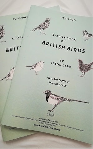 Carr - A little Book of British Birds for two flutes (illus. Heather, J.)