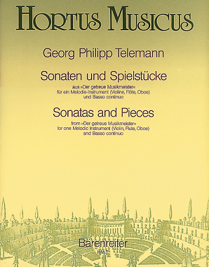 Telemann Georg Philipp - Sonatas and Pieces (from Der getreue Musikmeister) (TWV 41: a3, g5, d1, C1, E2, B4).