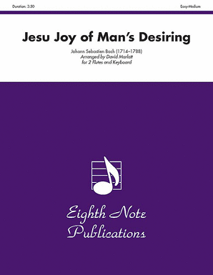 Bach/Marrlat - Jesu Joy of Man's Desiring for two flutes and piano