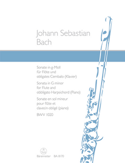 Bach JS - Sonata in G minor BWV 1020 (Was NMA77) Barenreiter