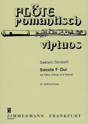 Donizetti - Sonata in F for flute and piano (Zimmerman)