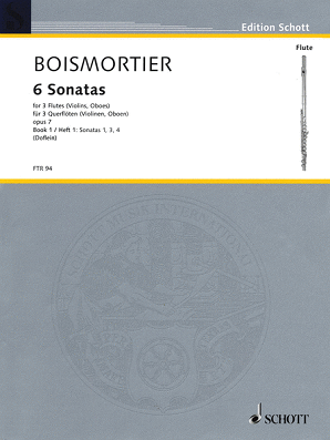 Boismortier - 6 Sonatas, Op. 7 for Three Flutes - Volume 1 (Schott)