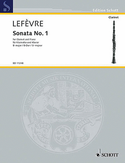 "Lefevre, Jean-Xavier  -Sonata No. 1 from ""Méthode de Clarinette"" Clarinet and Piano"
