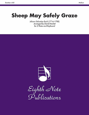 Bach/Marlett - Sheep May Safely Graze for two flutes and piano
