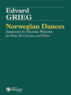 Greig -Norwegian Dances, Op. 35 for flute and clarinet with piano