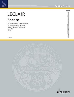 Leclair - Sonata Op 9 no 7 in G major  Flute/Basso Continuo