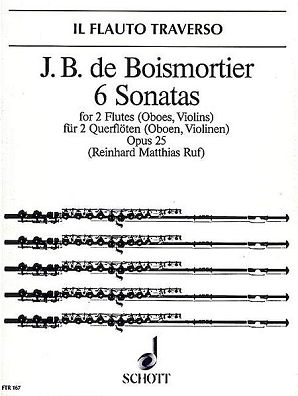 Boismortier - 6 Sonatas, Op. 25 for Two Flutes