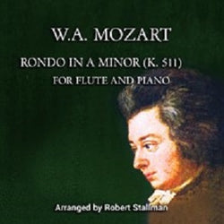 Mozart Stallman Rondo in A minor Two Flutes and Piano