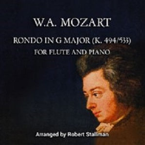 Mozart Stallman Rondo in G Major Two Flutes and Piano