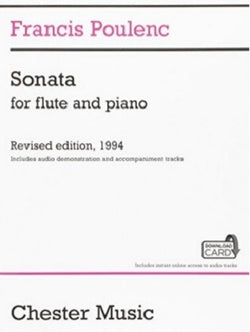 Poulenc - Sonata for Flute and Piano Revised edition, 1994 (Poulenc) (Chester)