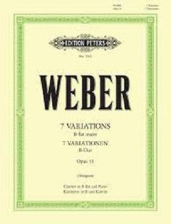 Weber - 7 Variations in B Flat Major Op. 33 for clarinet and piano