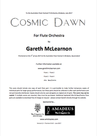 Mclearnon, G - Cosmic Dawn for flute orchestra
