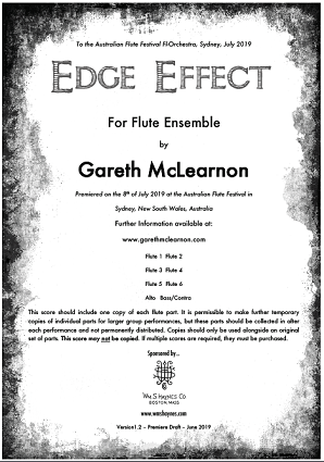 Mclearnon, G - Edge Effect for flute orchestra