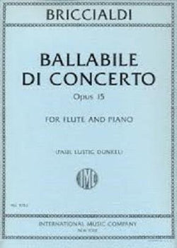 Briccialdi, Giulio - Ballabile di Concerto Op. 15 for flute and piano