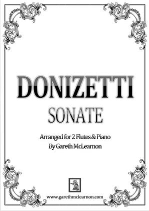 Mclearnon, G - Donizetti Sonate for Two Flutes & Piano