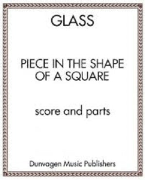 Glass Phillip - Piece in the Shape of a Square 2 Flutes