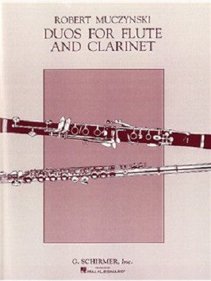 Muczynski, Robert- Duos for flute and clarinet (Hal Leonard)