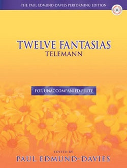 Telemann - Twelve Fantasias Ed Paul Edmund-Davies with CD