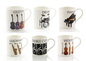 Music Word Mugs