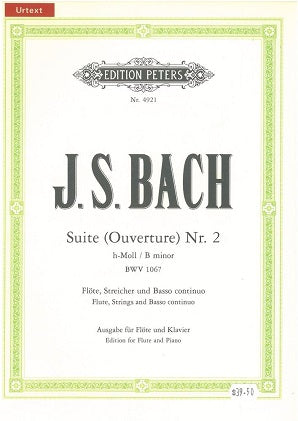 Bach J S - Suite (Overture) No. 2 BWV 1067 (Peters)