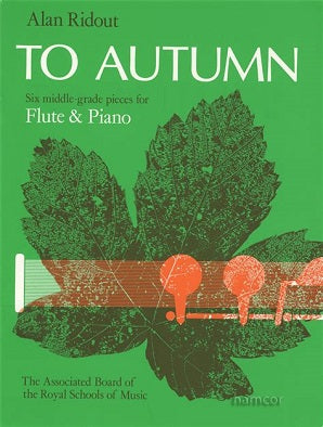 Ridout, A - To Autumn Flute/Piano