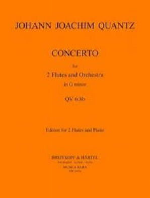 Quantz Concerto in G minor QV6:8 for two flutes and orchestra (Piano Reduction)