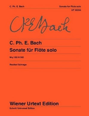 Bach, C.Ph.E - Sonate for solo flute Wq132/H562 in A minor (Wiener Urtext)