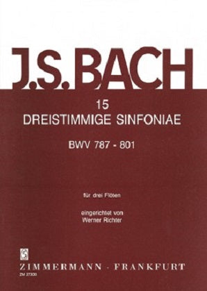 Bach, J S -15 Sinfonia (Three-Part Inventions) for Three Flutes, BWV787-801