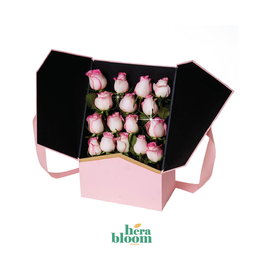 Pink Rose in Box - Hera Bloom