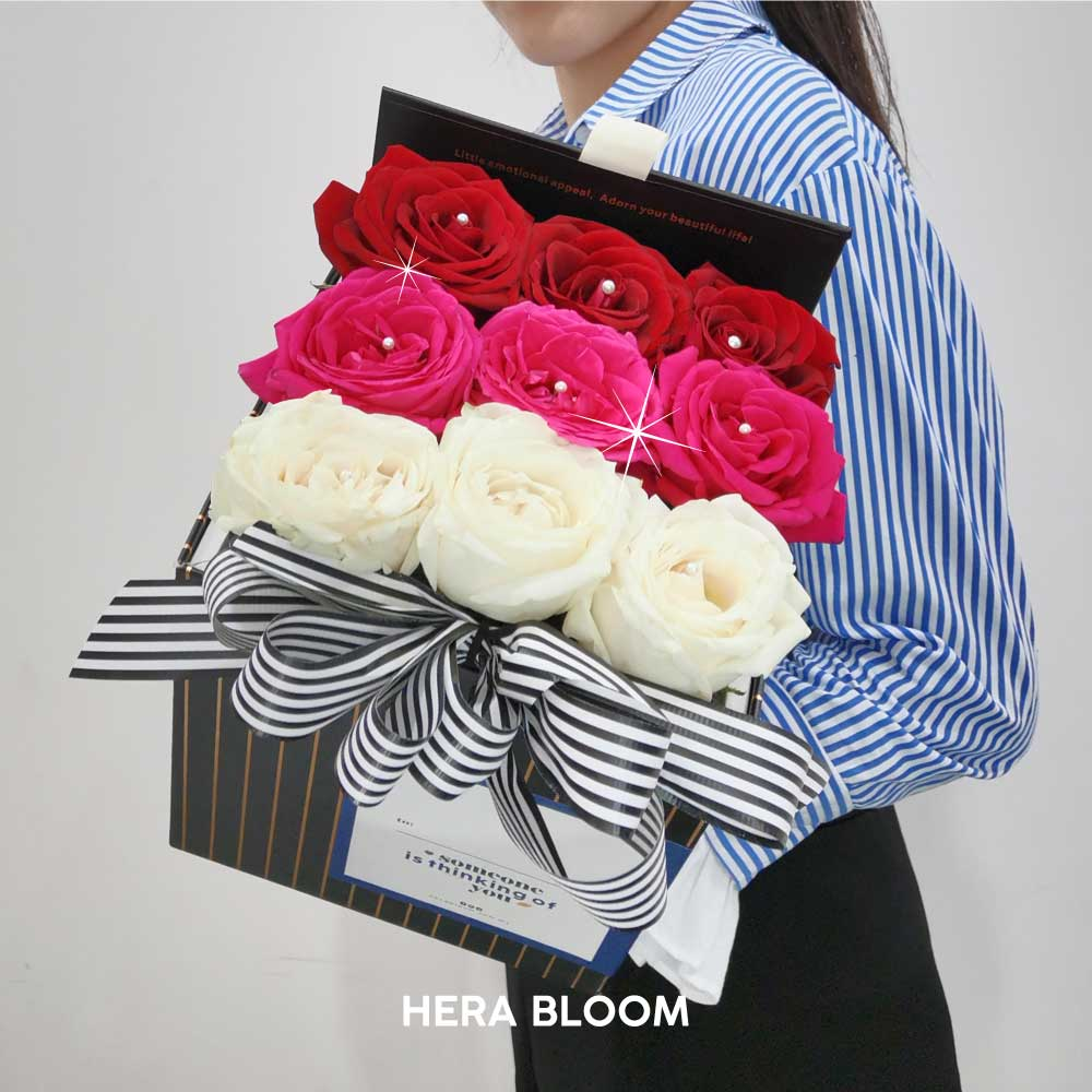 Mixed Rose in Box (Gradient) - Hera Bloom