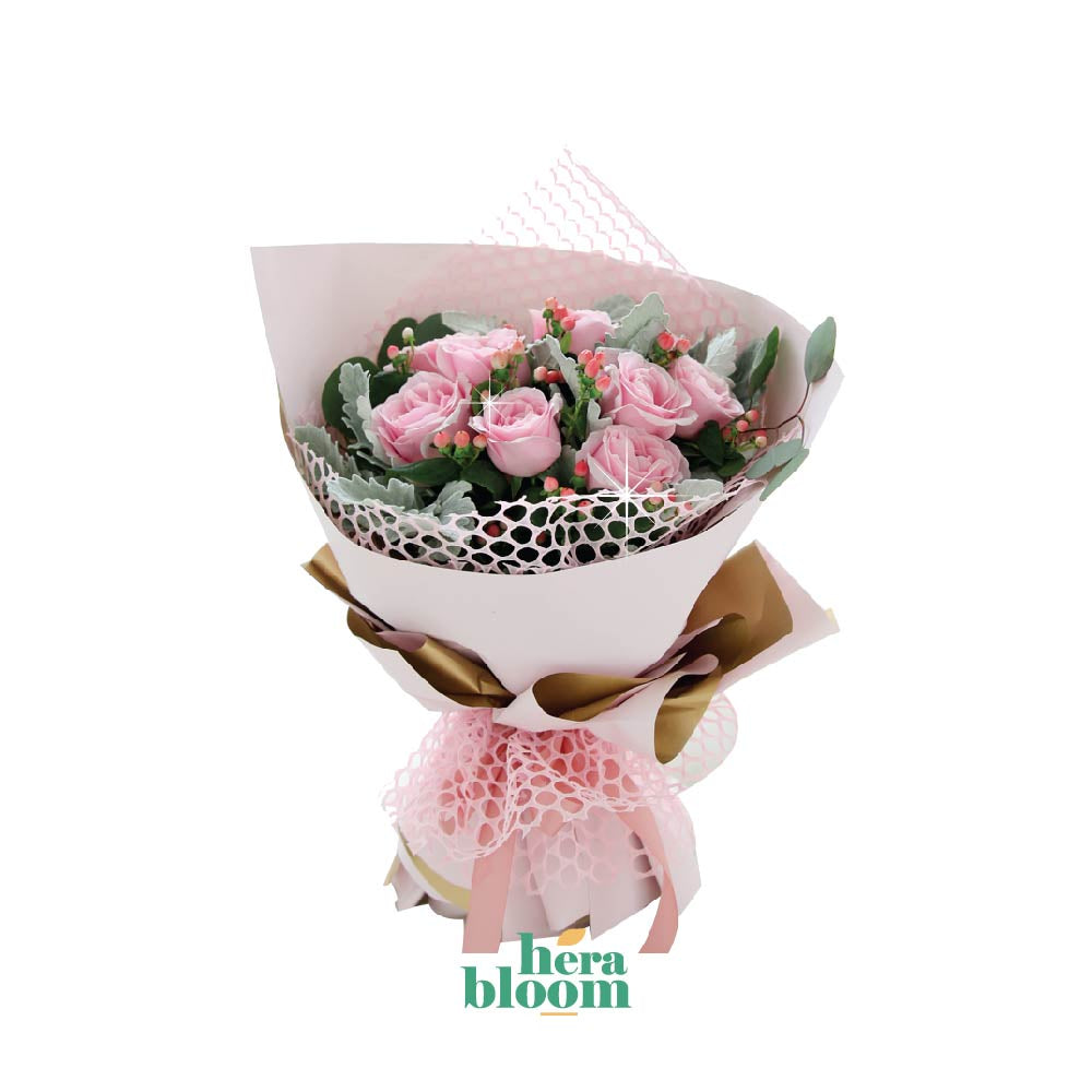 Pink Rose Bouquet - Hera Bloom