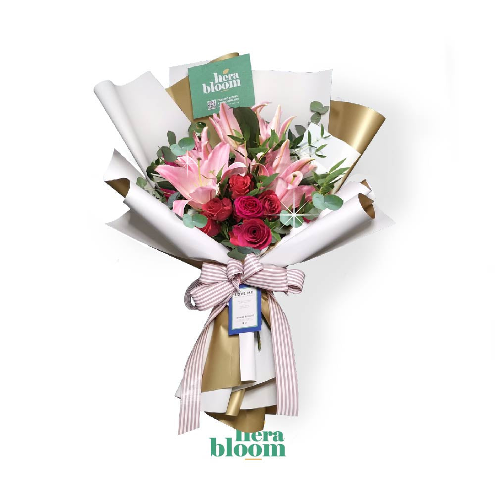 Lily Rose Mixed Bouquet - Hera Bloom